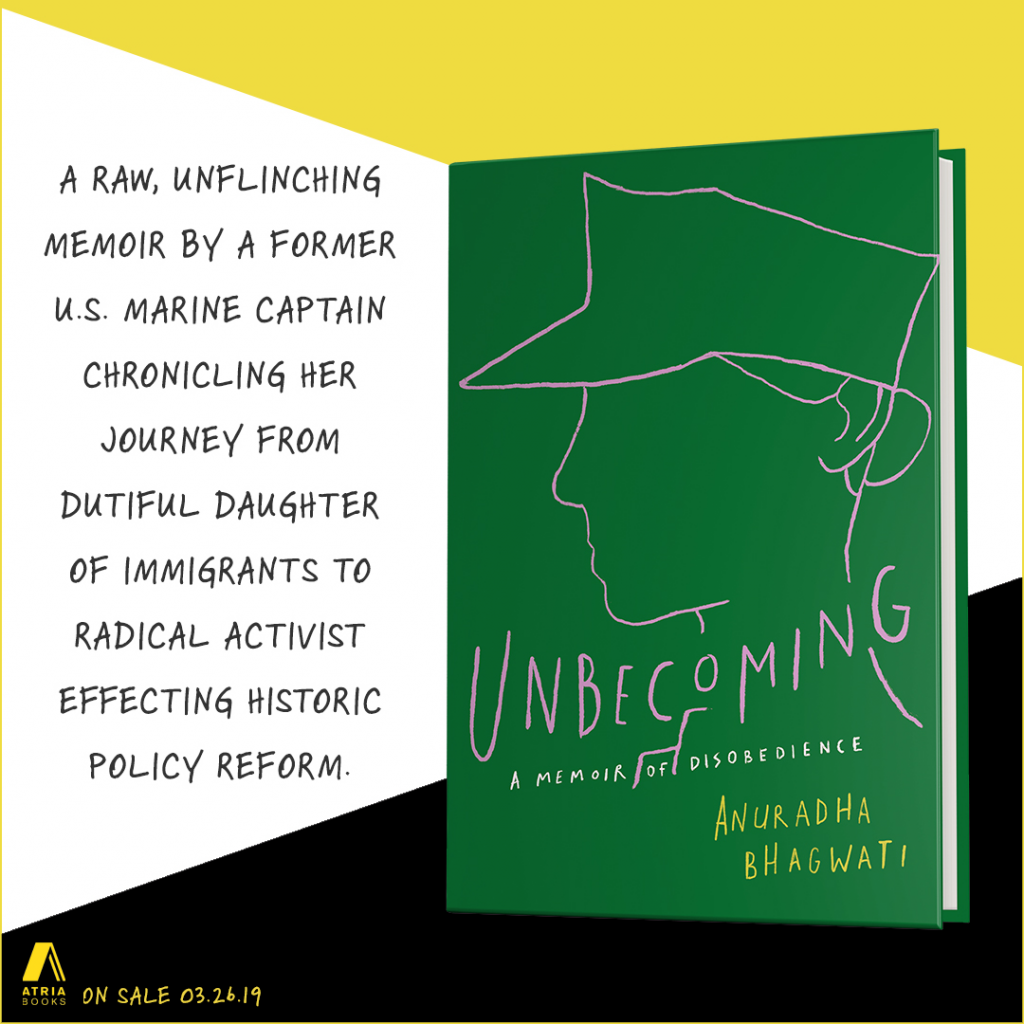 A raw, unflinching memoir by a former US Marine Captain chronicling her journey from dutiful daughter of immigrants to radical activist effecting historic policy reform. On sale 3.26.19.